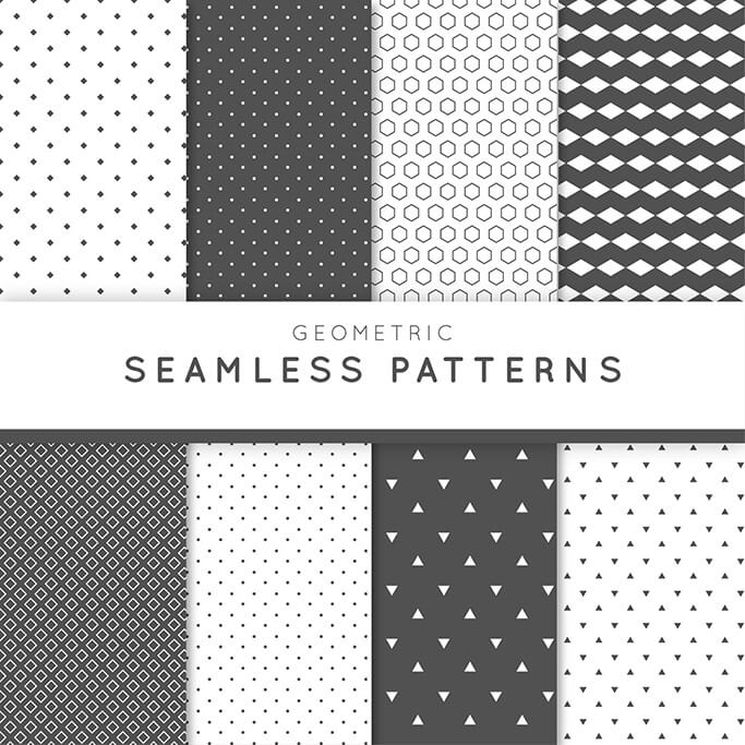 8 patterns with abstract geometric grey 2