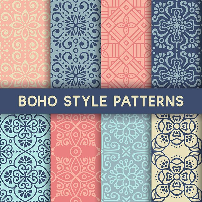 8 patterns with ornamental elements 2