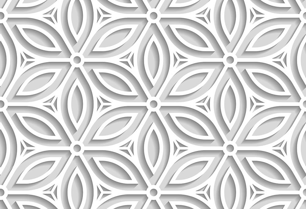 Japanese seamless pattern cut out from paper 2