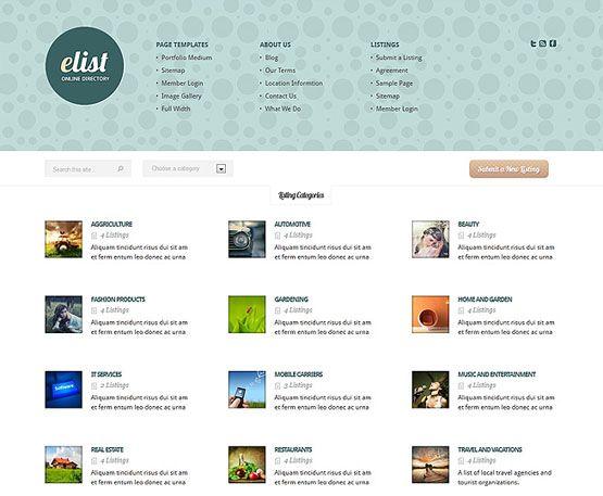 Theme eList - ElegantThemes - Kho Tài Nguyên - Kho Theme Wordpress