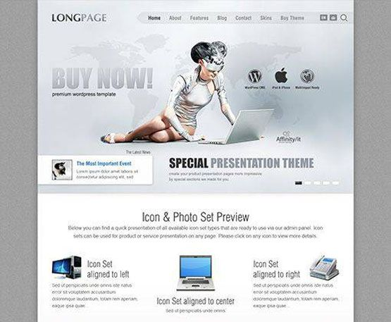 LongPage - aitthemes