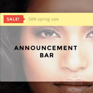 Announcement Bar - Themify
