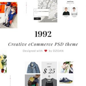 1992 Creative e-Commerce PSD Template