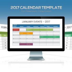 2017 Calendar Powerpoint Template