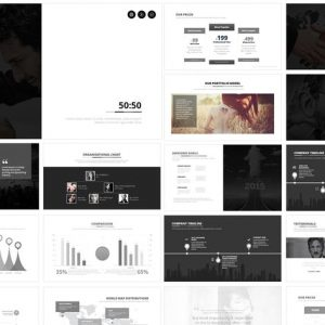 50:50 PowerPoint Template