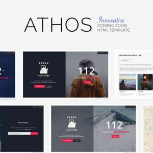 ATHOS - Innovative Coming Soon Template