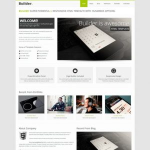 BUILDER - Responsive HTML Template
