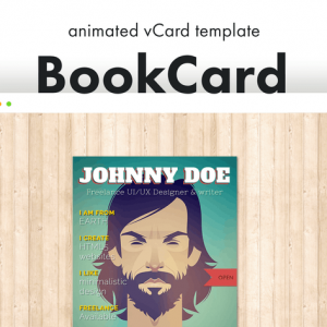 BookCard - 3D Animated Folded vCard Template
