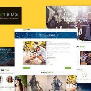 Citrus - One Page HTML5 Parallax Portfolio