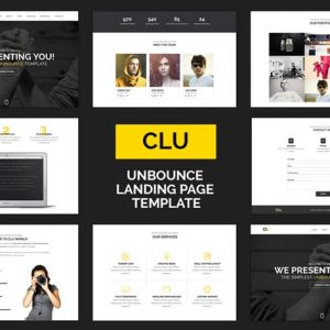 Clue - Responsive Unbounce Landing Page Template