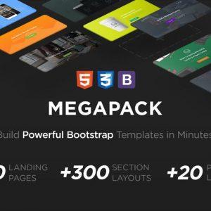 MEGAPACK – Marketing HTML Landing Pages Pack