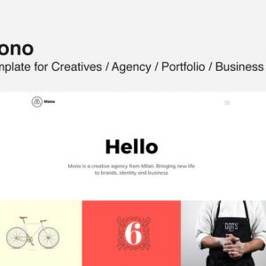 MONO - Template for Creatives / Agency / Portfolio
