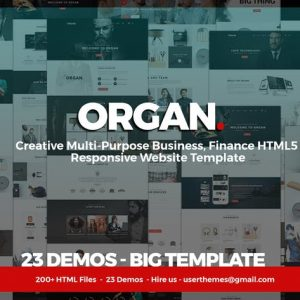 Organ - Multi-Purpose Business, Finance HTML5