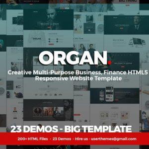 Organ - Multi-Purpose Business, Finance HTML5
