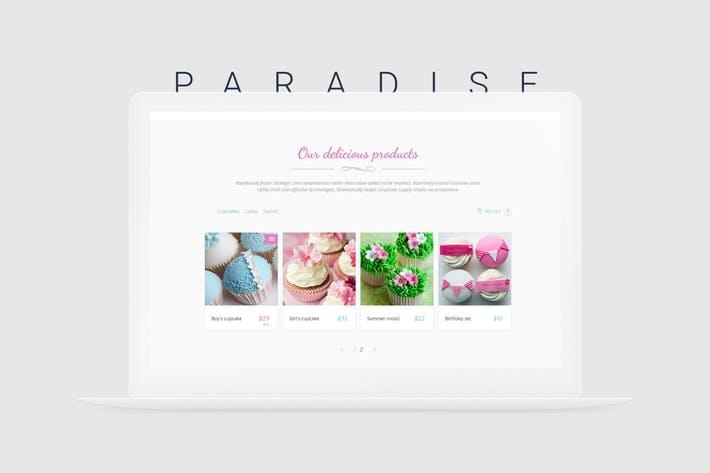 Paradise Cakes – Sweet eCommerce Landing Page