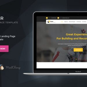 Scour - Construction HTML Page Template