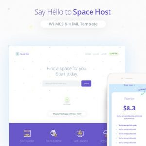 Space Host WHMCS & HTML Landing Page