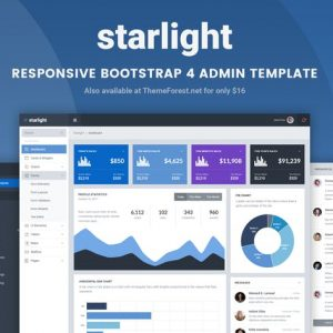 Starlight Responsive Bootstrap 4 Admin Template