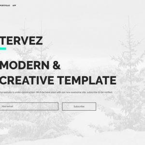 Tervez — Coming Soon & Maintenance Mode Template