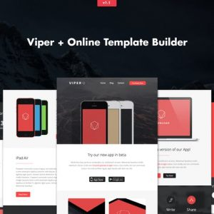 Viper - Responsive APP Business Email + Builder