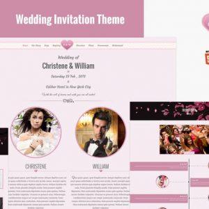 Wedding Event Invite HTML5