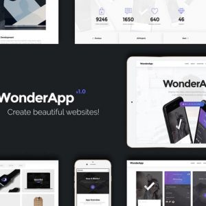 WonderApp | Responsive Multi-Purpose Landing Page