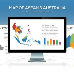 ASEAN & Australia Maps For Powerpoint