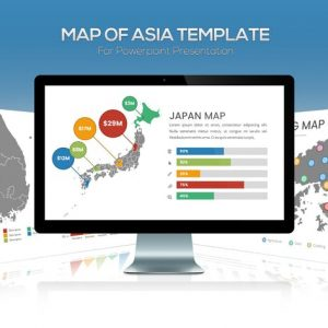 Asia Maps for Powerpoint Presentation