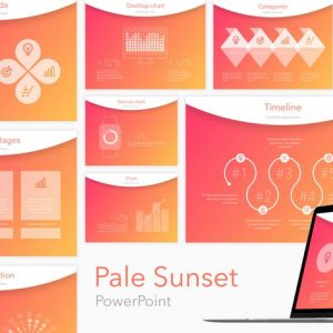 Pale Sunset PowerPoint Template
