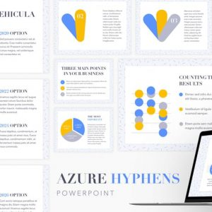 Azure Hyphens PowerPoint Template