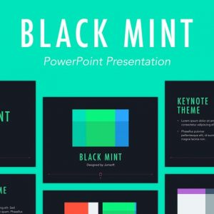 Black Mint PowerPoint Template