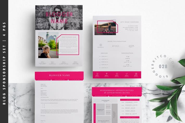 Blog Media Kit Template + Sponsorship Set