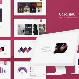 Cardinal Simply Powerpoint Template
