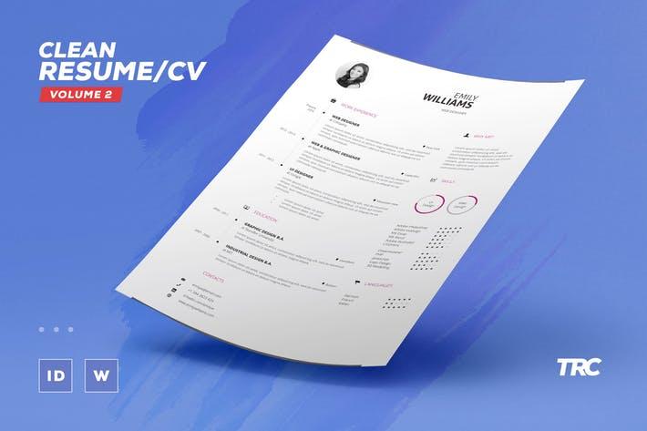 Clean Resume/Cv Volume 2