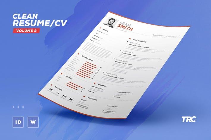 Clean Resume/Cv Volume 8