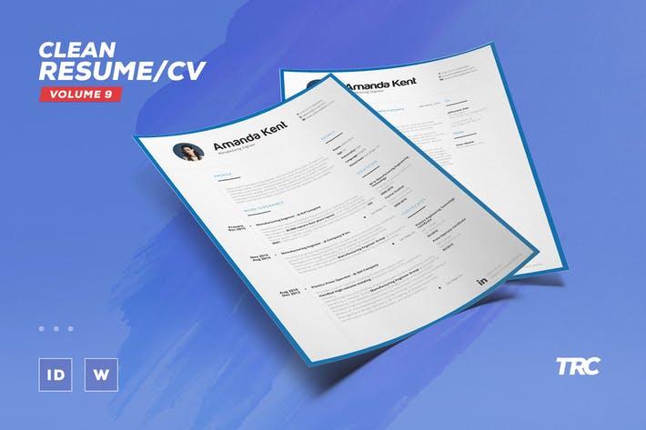 Clean Resume/Cv Volume 9