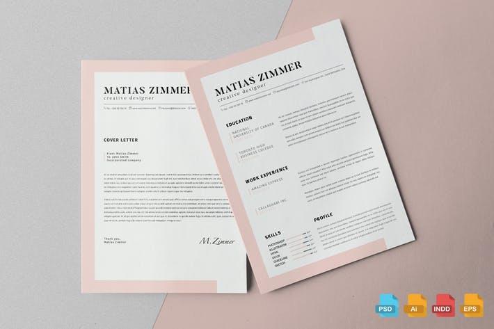 Clean Resume Template Vol.5