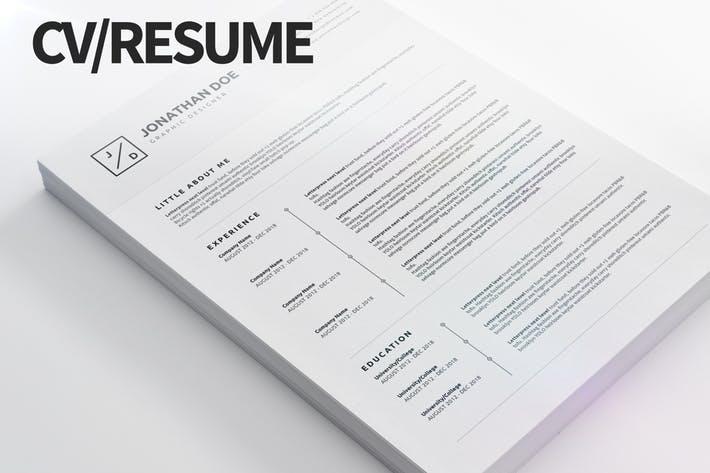 CV/Resume 04 - Clean and Minimal Print Ready