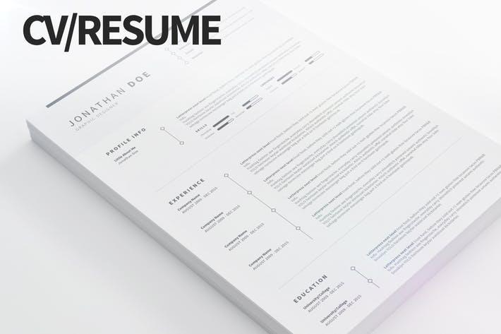 CV/Resume - Clean and Minimal