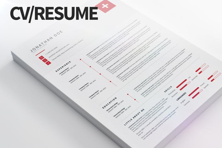 CV/Resume - Clean and modern