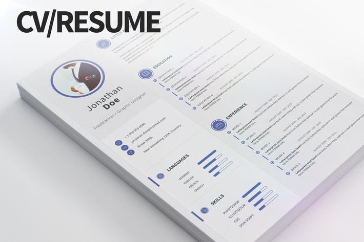 CV/Resume - Modern and clean