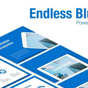 Endless Blue PowerPoint Template