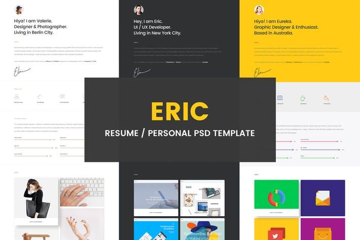 Eric - Resume PSD Template