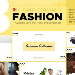Minimal Fashion Catalog & Photography Powerpoint
