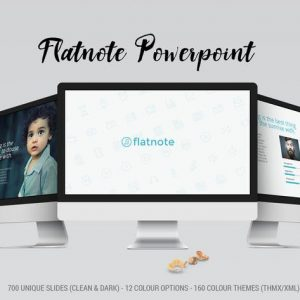 Flatnote 2.0 PowerPoint Template