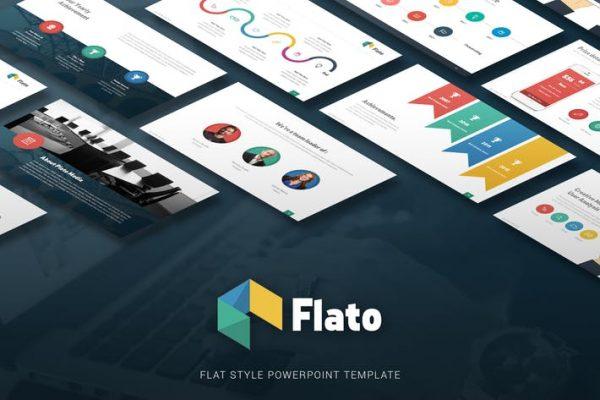 Flato - Flat Multipurpose Powerpoint Template