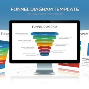 Funnel Chart Template for Powerpoint Presentation
