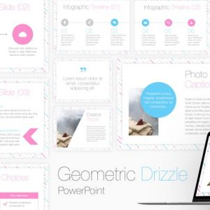 Geometric Drizzle PowerPoint Template