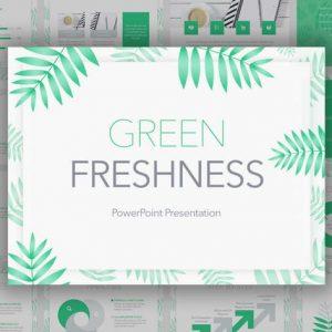 Green Freshness PowerPoint Template