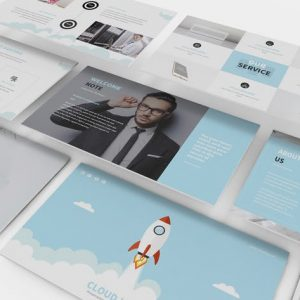 Hosting and SEO Powerpoint Template